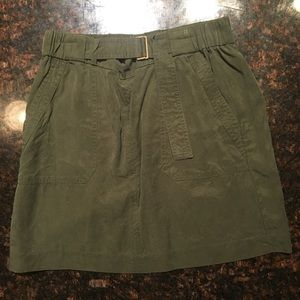 Banana Republic army green skirt